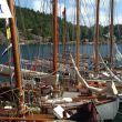 Fenris, Flekkerøy, West Wind, Godbonden og RS Larvik i Skudevik